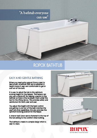 Data leaflet Ropox Bathtub