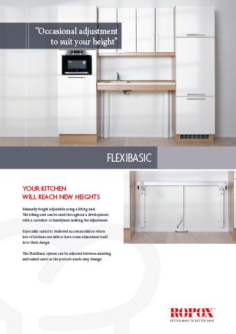Data leaflet Ropox Kitchen Worktops Flexibasic