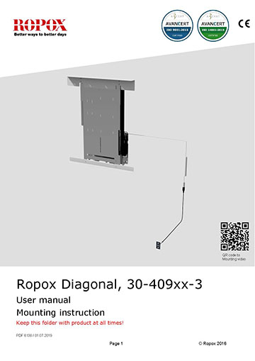 Ropox user & mounting manual - Diagonal