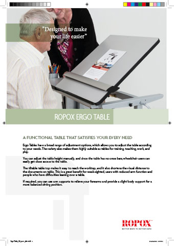 Data leaflet Ropox Ergo Table