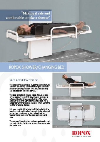 Data leaflet Ropox Shower/Changing Bed