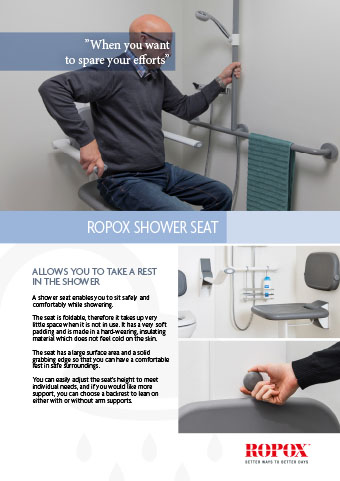 Data leaflet Ropox Bathroom Shower seat