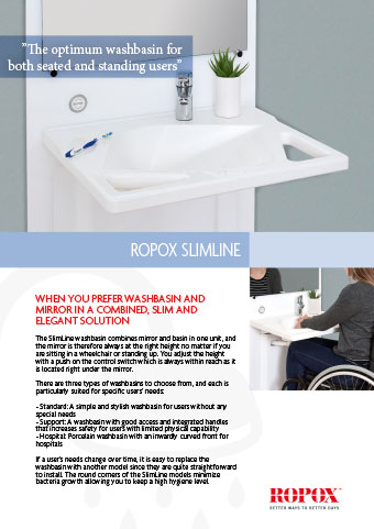 Data leaflet Ropox SlimLine Washbasin