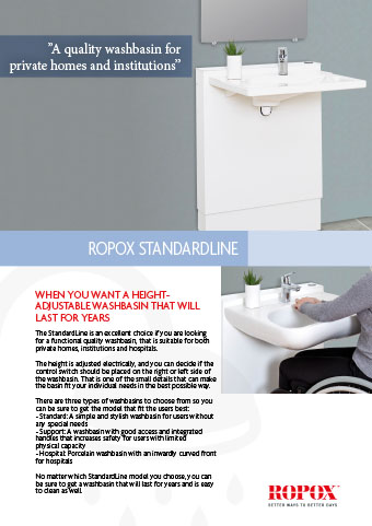 Data leaflet Ropox StandardLine Washbasin