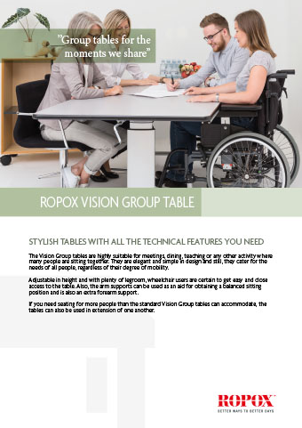 Data leaflet Ropox vision group table