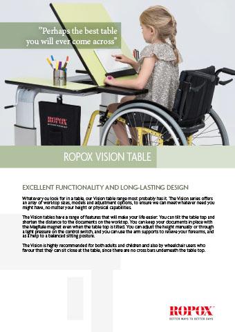 Data leaflet Ropox Vision Table