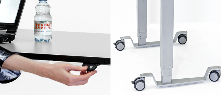 Vision High/Low bord adjusting castors