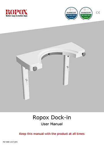 Ropox user manual - Dock-in for Swing Washbasin
