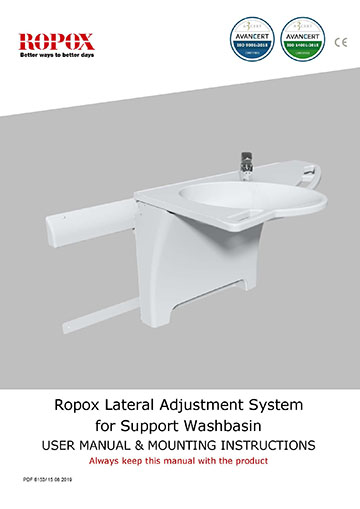 Ropox - Support Washbasin - side displacement