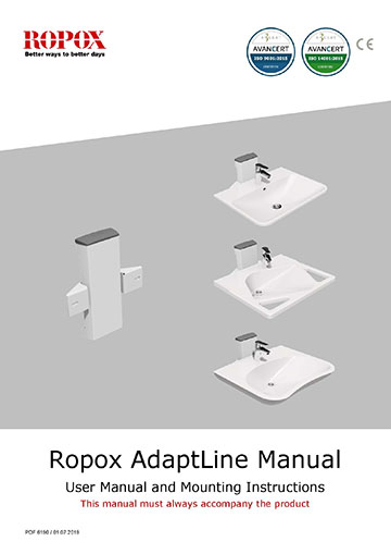 Ropox user and mounting instruction - AdaptLine Wasbasin