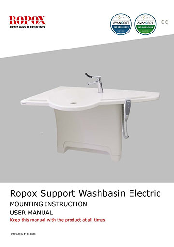 Ropox - Support Washbasin - Electric operation