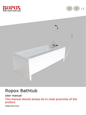 Ropox user & mounting manual - Bathtub