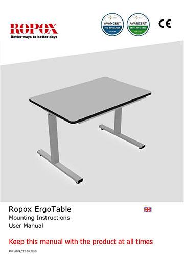 Ropox user & mounting manual - ErgoTable