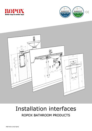 Ropox Installation interfaces - Bathroom products