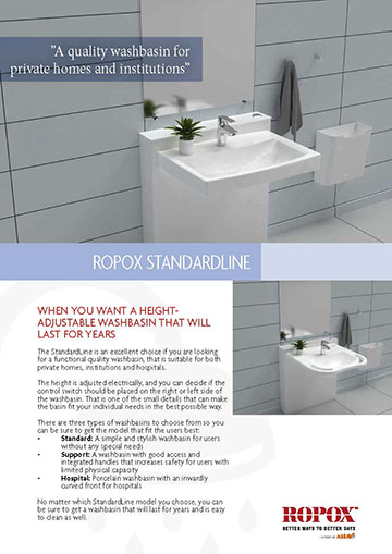 Data leaflet Ropox StandardLine Washbasin